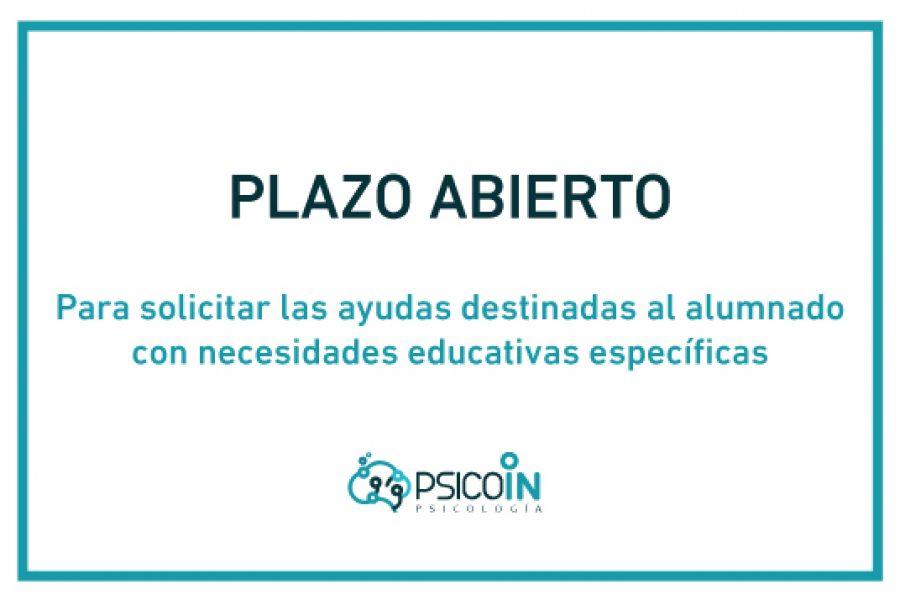 Plazo Abiero para solicitar Ayudas para alumnos con necesidades educativas